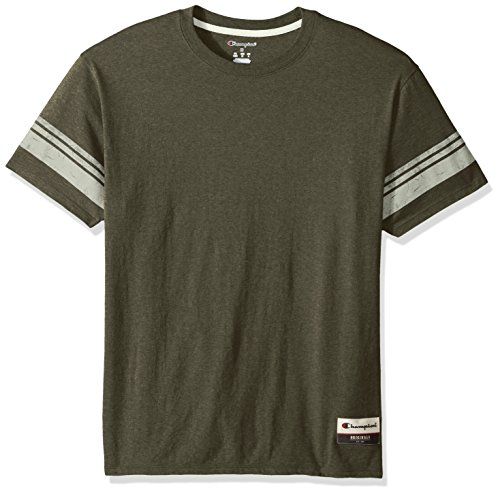 Champion Men's Authentic Originals Tri-blend Short Sleeve Varsity Tee