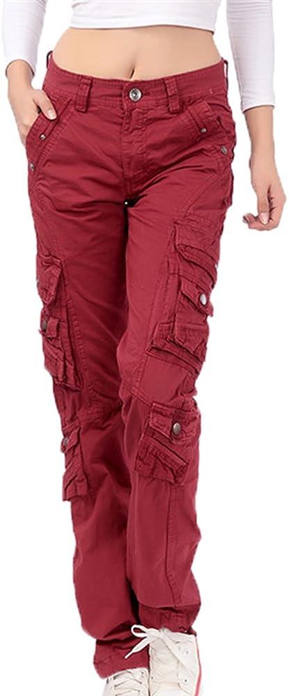 Pantalones de Combate al Aire Libre multifuncionales de los Pantalones de Combate hellomiko Pantalones Casuales al Aire Libre de la Moda Unisex