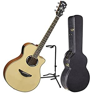 yamaha apx500iii nt thinline body acoustic electric guitar natural w case and stand. Black Bedroom Furniture Sets. Home Design Ideas