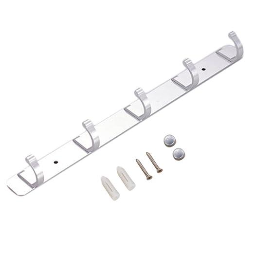 Dalkeyie Space - Perchero de Pared con 5 Ganchos de Aluminio ...