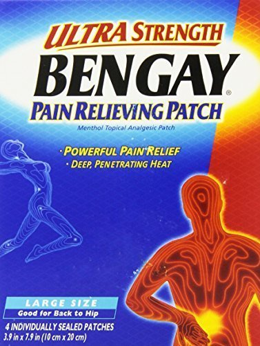 (Bengay Ultra Strength, Pain Relieving Patch, Large Size, 4 Count - Buy Packs and SAVE (Pack of)