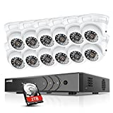 16 ch cctv dvr - ANNKE 16-Channel 720P Video Security System DVR with 2TB Hard Drive and (12) HD 1280TVL Indoor/Outdoor Cameras with IP66 Weatherproof Housing, 66ft Super Night Vision