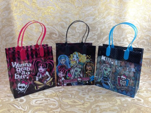 24pc Monster High Treat Bags Loot Bags Party Favors Goodie Bag Gothic Candy Bags -