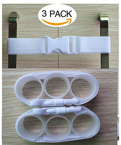 - Baby Cabinet Safety Locks,Handles Child Safety Locks Simple Installation Home Safety Strap Locks Fit Closed Handle Cabinets,Oven, Double Open The Door Refrigerator, Kitchen Door (3 Pack, White)