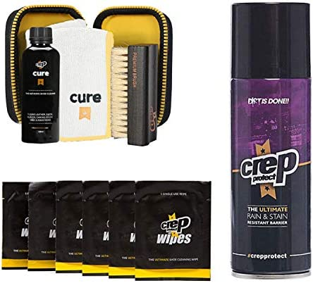 Crep Protect Cure Kit, Ultimate Rain & Stain Shoe Spray and six Wipes (Bundle Gift Pack)
