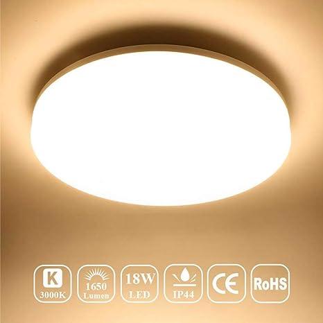 LED Wandlampe rund Ø 22cm Kupferfarbig 8W Wandbeleuchtung Flur Schlafzimmer