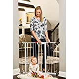 Baby : Regalo Easy Step Walk Through Baby Gate Includes Pressure Mount and 6 Inch Extension Kit