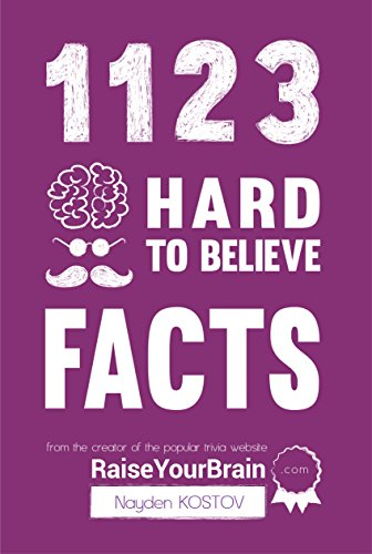 1123 hard to believe facts from the creator of the popular trivia website raiseyourbraincom paramount trivia and quizzes book 1