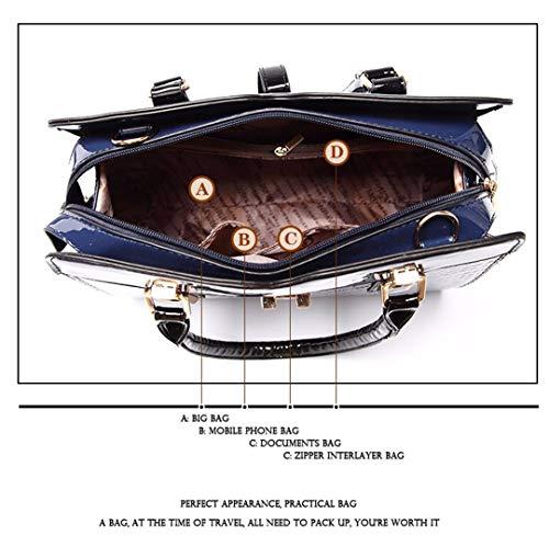 Blue Tote Leather Quality Ladies High European Sky qxAO1Tw