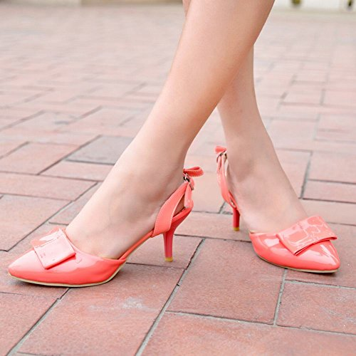 Carol Shoes Women's Western Fashion High Heel Bows Pointed Toe Sandals Watermelon Red 31wAn