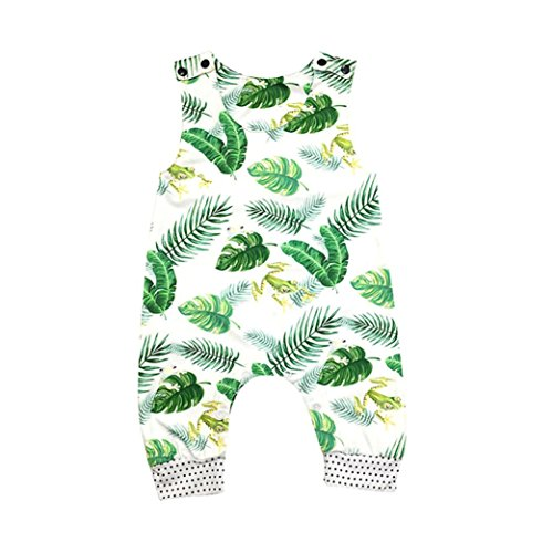 ARINLA Newborn infant baby kids child girls boys sleeveless flower romper jumpsuit ()
