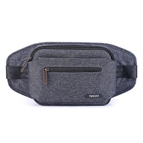 TINYAT Unisex Messenger Bag Fanny Lightweight Waist Pack Tra