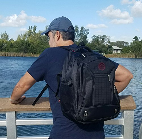 Laptop Backpack Swiss Plazio up to 15.6 Inch - Water Repellent Travel Laptop Backpack - Computer Bookbag - College Backpack for Men / Women - School Bag Lightweight