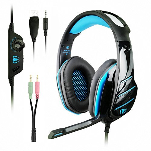 PS4 xbox one Gaming Headset with mic , LED over ear PC headphones and Professional Noise Isolation for Cooler Gaming and Multimedia compatible with Laptop