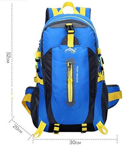 LQABW Alpinismo Al Aire Libre Del Hombro Hombres Mujeres Impermeable Ocio Paquete 65L De Gran Capacidad De Bolsa De Viaje Mochila 40L,Green Blue
