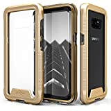 Zizo ION Series compatible with Samsung Galaxy Note 8 Case Military Grade Drop Tested with Tempered Glass Screen Protector GOLD CLEAR