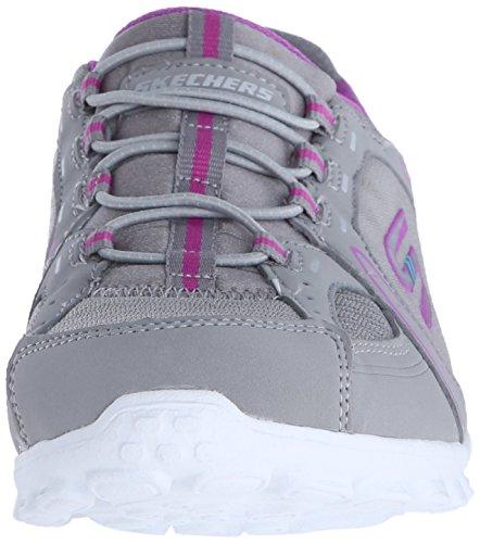 Skechers Sport Dames Ez Flex 2 Right On Fashion Sneaker Grijs / Paars