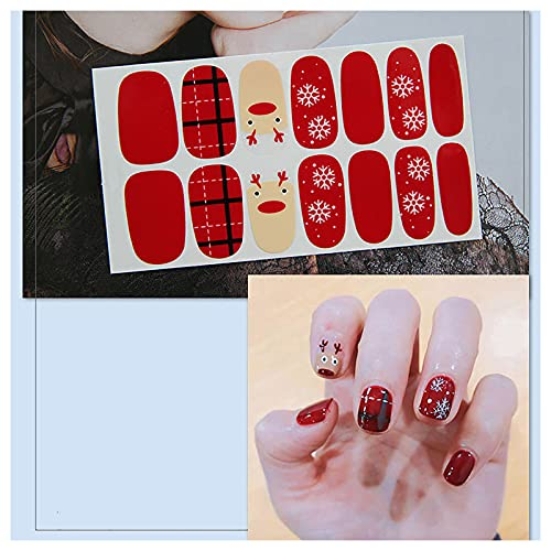 Christmas Nail Art Decals - Fashion Nail Accessories Manicure Decorations DIY Nail Stickers Stencil for Women Girls Kids Manicure Nail Salon (G)
