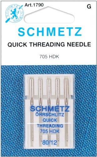 Euro-Notions Quick Self Threading Machine Needles, Size 1...