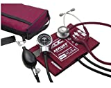 ADC Pro's Combo III Adult Pocket Aneroid/Clinician Scope Kit with Prosphyg 778 Blood Pressure Sphygmomanometer and Adscope 603 Stethoscope with Carrying Case, Burgundy