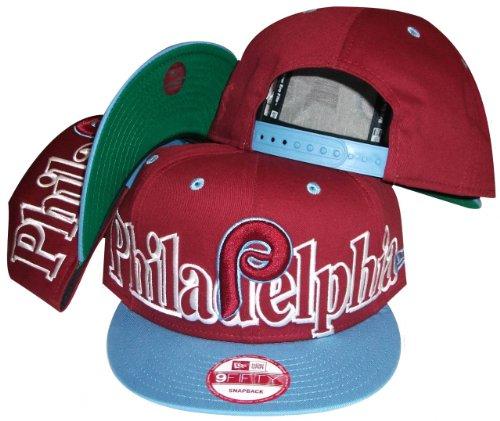 New Era Philadelphia Phillies Big City Punch Plastic Two Tone Snapback Adjustable Plastic Snap Back Hat/Cap ()