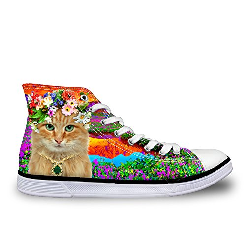 Top Shoes 4 U Flat High Canvas Kawaii Cat Kitten FOR Women DESIGNS Cat Sneaker CO0TxTwzq