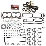Evergreen HSTBK2013 Head Gasket Set Timing Belt Kit Fits 88-92 Toyota Geo 1.6L DOHC 16v 4AGE 4AGZE