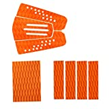 MonkeyJack 8 Pieces Orange Non-slip Diamond Grooved EVA Surfboard Skimboard Shortboard Surf Traction Pad Deck Grip Tail Pads Accessories