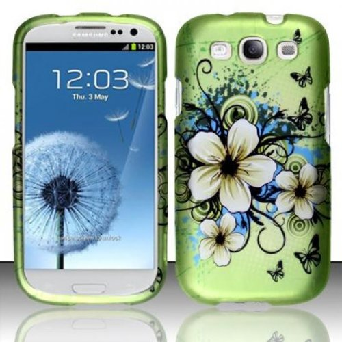 For Samsung Galaxy S3 III i9300 - Rubberized Design Cover - Hawaiian Flowers (Phone Samsung Faceplates)