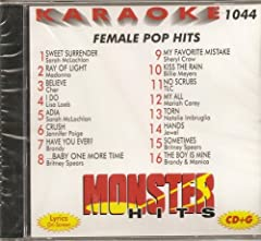 This listing is for a brand new MONSTER HITS Volume #44 FEMALE POP HITS Compilation Karaoke CD&G CD from the MONSTER HITS collection (MH-1044). This factory manufactured CD comes sealed in a heavy duty plastic jewel case, plays the music ...