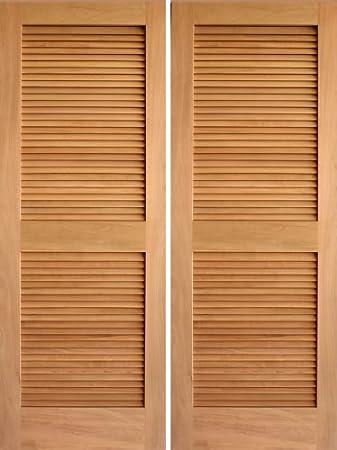 Interior Door Rustic Louver Double - AAW Doors Inc. & Interior Door Rustic Louver Double - AAW Doors Inc. - - Amazon.com Pezcame.Com