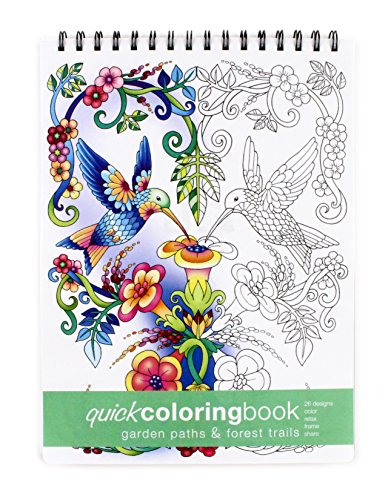 Intricate Wood - Action Publishing Quick Coloring Book: Garden Paths & Forest Trails · Easy To Color Illustrations of Forest Plants and Animals for Stress Relief, Relaxation and Creativity · Large (8.6 x 11.75 inches)