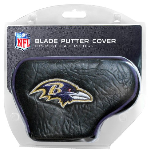 Team Golf NFL Baltimore Ravens Golf Club Blade Putter Headcover, Fits Most Blade Putters, Scotty Cameron, Taylormade, Odyssey, Titleist, Ping, ()