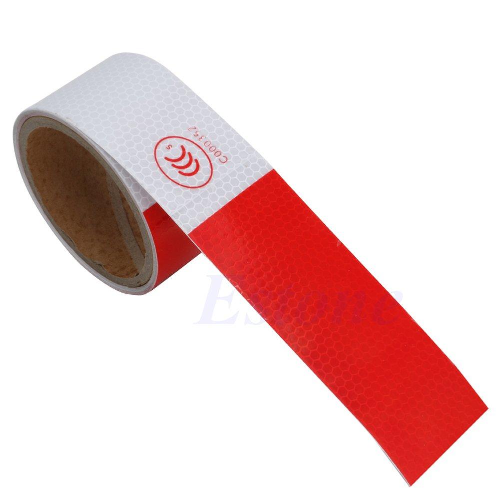 Junlinto 5 CM3 M 5, 1 cm x 10 'Pellicola riflettente di sicurezza attenzione Conspicuity nastro adesivo colorato Width: 5CM / 2', Length: 3 Meters/118 Garlic Yellow