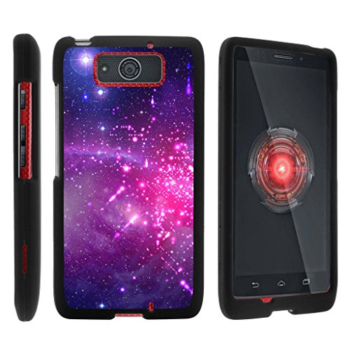MINITURTLE Case Compatible w/ Miniturtle [Motorola Droid Maxx Case, Droid Ultra Slim Cover] [Snap Shell] 2 Piece Hard Cover Plastic Snap On Case Heavenly Stars - Motorola Razr Snap Cases