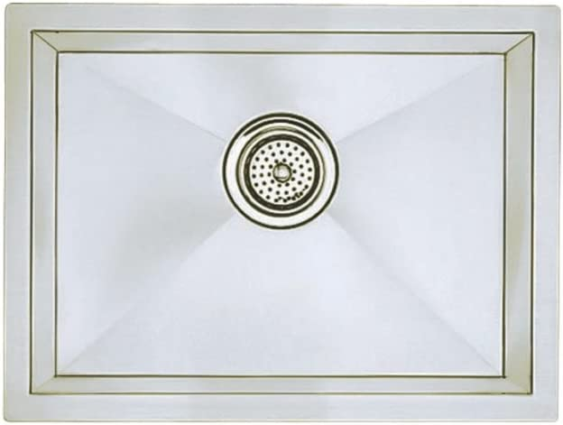 Blanco 516223 16-Inch Precision R10 Single Bowl Undermount Sink, Stainless Steel