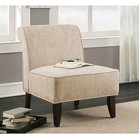Sadie Slipper Vintage Creme Accent Slipper Chair Cream