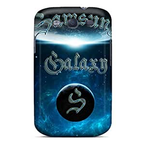Jeffrehing Case Cover For Galaxy S3 - Retailer Packaging Galaxy Blue Protective Case