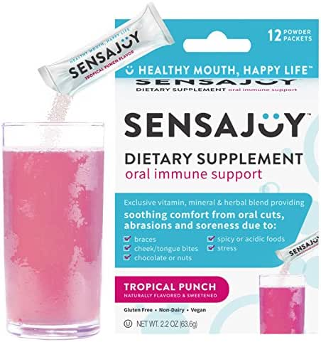 SENSAJOY Natural Canker Sore Treatment - Healthy Mouth, Happy Life! Relief, Healing & Prevention (ProBiotics, Lysine, B12, Zinc, More)