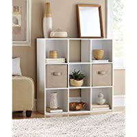 Mainstays 9 Cube Organizer, Multiple Colors | 9-compartment storage cube, White Finish