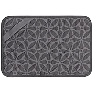 "Envision Home 596901 Heat-Resistant Printed Trivet Mat -  11"" x 17"", Grey Print"