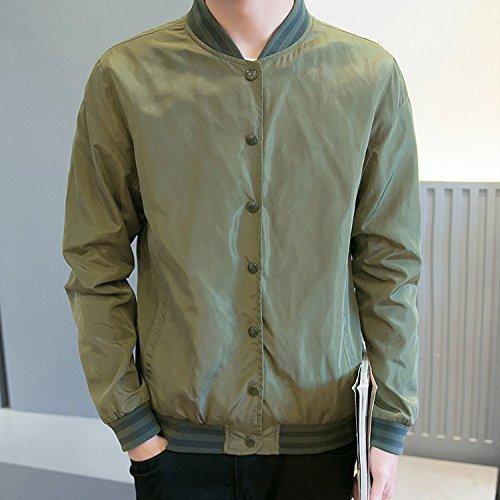 Army Serie jacket Solido Giacca Di Elegante Uomini Gli Colore Uomo Leggera Autunno L Ylsz E Moda Alla Green HqC6waxw