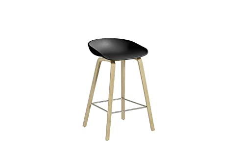 HAY - About A Stool AAS 32 - schwarz - Eiche geseift - 75 cm - Hee ...