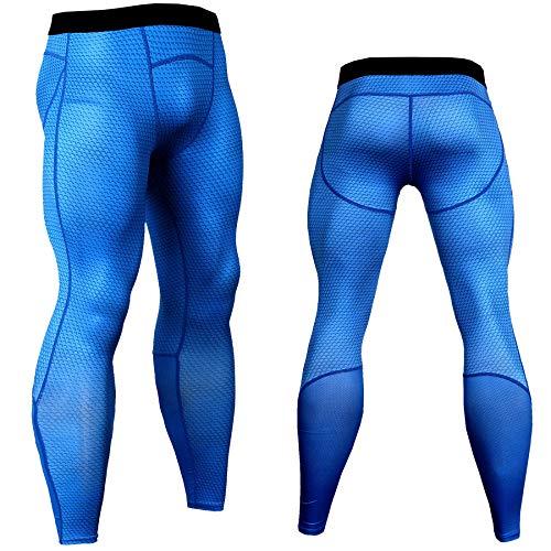 SUYUN Pantalones Ajustados elásticos 3D de Malla de ...