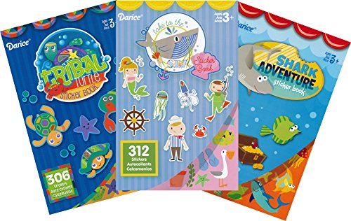 - Ocean Adventures Assorted Sticker Books for Kids - 3 Books and over 900 Stickers