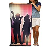 Super Absorbent Beach Towel Dance Children Family Polyester Velvet Beach Towels 31.551.2 Inch