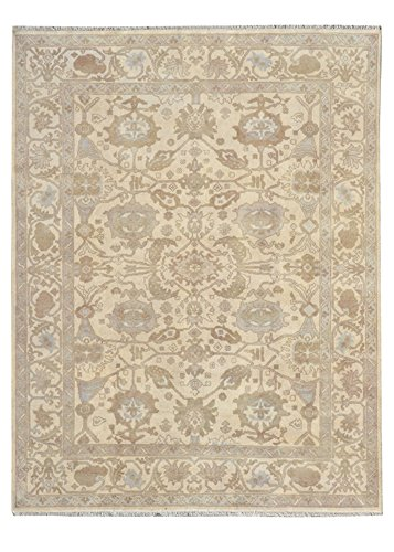 Kalaty Umbria Area Rug US-143 Tan Bordered Vines 8', used for sale  Delivered anywhere in USA