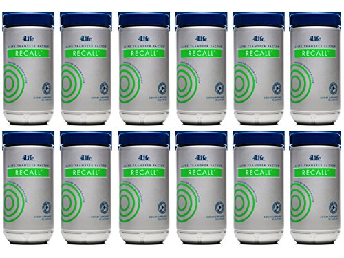 Transfer Factor Recall by 4Life - 12 Bottles of 90 capsules each by 4life