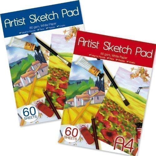 Libreta de Dibujo Para Artista A4 Cartucho de Papel 60 Hojas 80gsm Ideal Para Tizas Pasteles L/ápiz