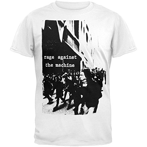 Old Glory Rage Against The Machine - Mens Riot Soft T-Shirt X-Large Black